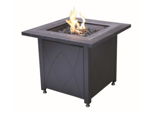 gas fire pit in oil rubbed bronze