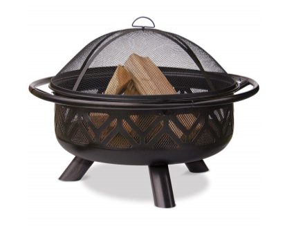 oil rubbed bronze wood fire pit